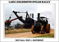 Lake Goldsmith Steam & Vintage Rally - May 2014 - Day 1