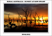 Rural Australia - Sunset At Kow Swamp